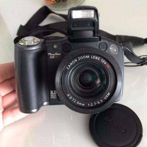 Camera semi-profissional canon powershot s5 is 8.0