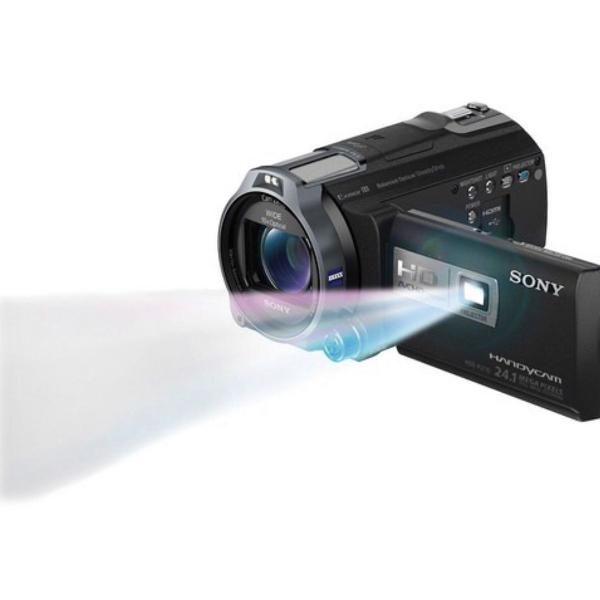 Câmera com projetor sony handycam alta definição hdr-pj