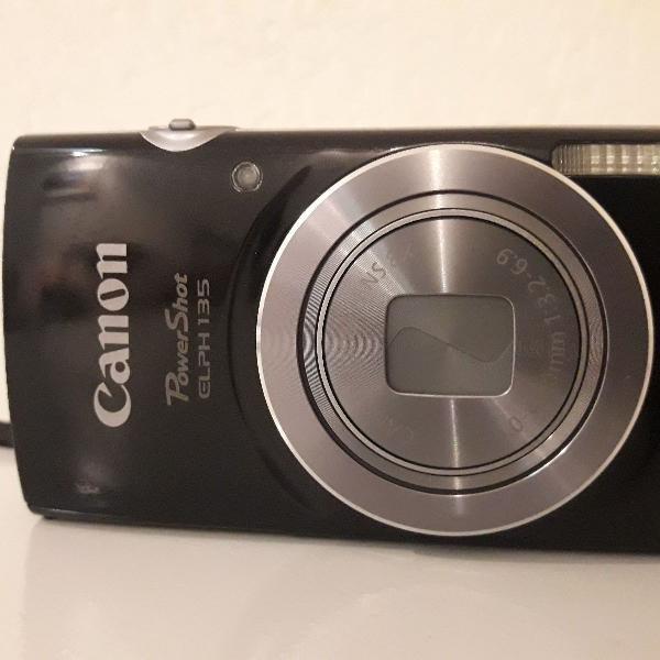 Câmera digital canon elph135 + cartão sd 8gb