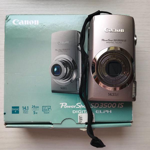 Câmera digital canon power shot sd3500is 14.1 mega pixeis-