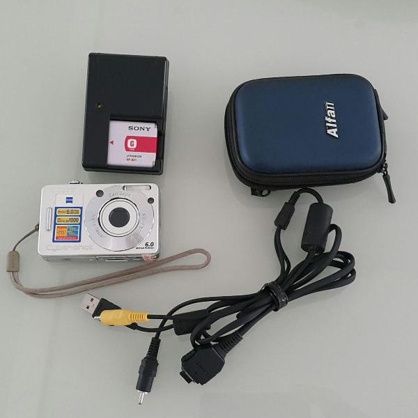 Câmera digital fotográfica sony dsc-w50 6mp