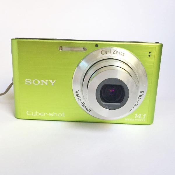 Câmera fotográfica digital sony 14mp verde
