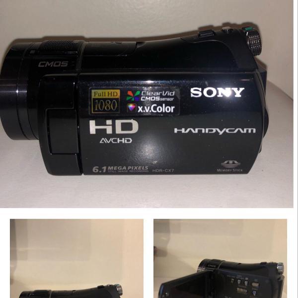 Câmera gravadora handycam sony+lente angular