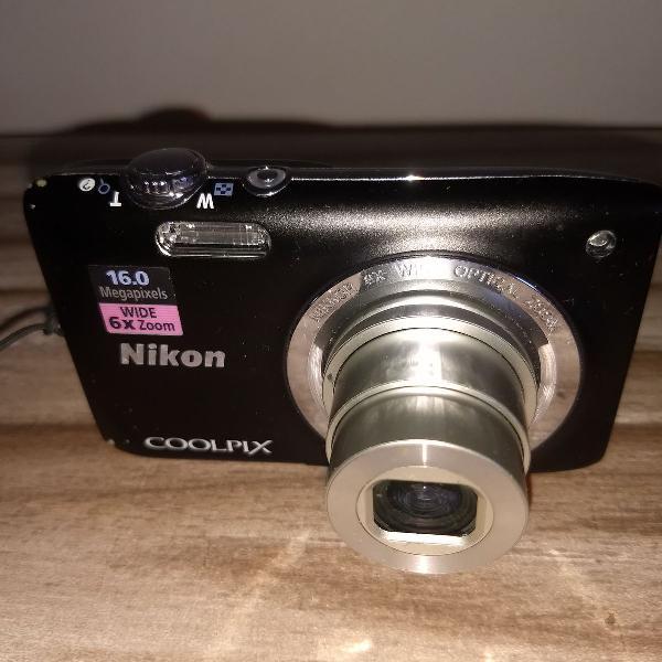 Câmera nikon coolpix s270016.0 megapixels