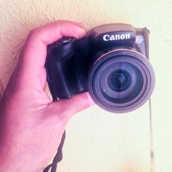 Câmera semi profissional canon powershot sx400 is 16.0 mp
