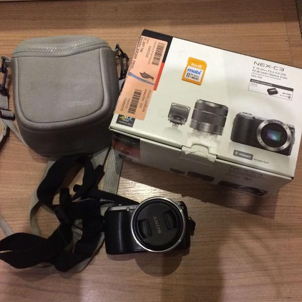 Câmera sony alfa c3 com cartão de memória wi-fi