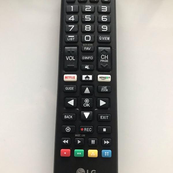 Controle remoto tv lg smart netflix original