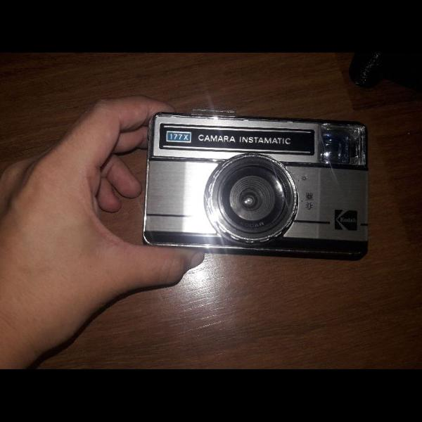 Instamatic câmera analogica kodak + adaptador filme 35mm