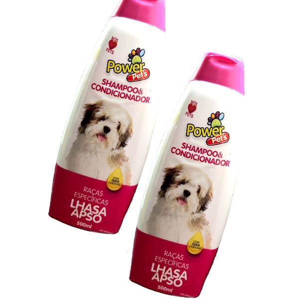 Kit shampoo power pets raças específicas (lhasa apso)