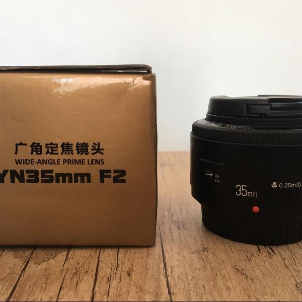 Lente yuginuo 35mm f2 (funciona com canon)