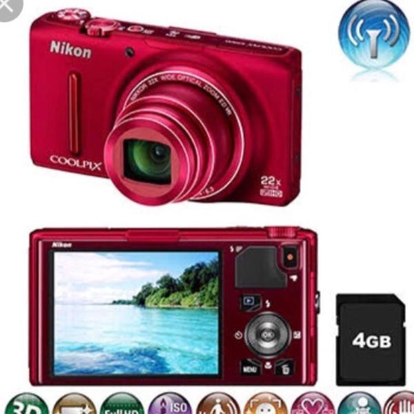 Máquina fotográfica nikon coolpix s9500