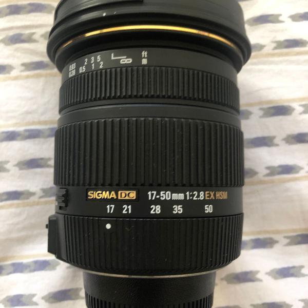 Objetiva sigma 17-50mm f/2.8 ex dc