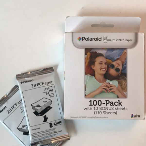 Papel fotográfico polaroid 2x3 premium zink