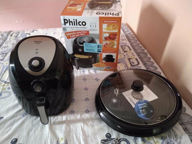 Air fry saúde inox philco e top grill britânia - novinhas!