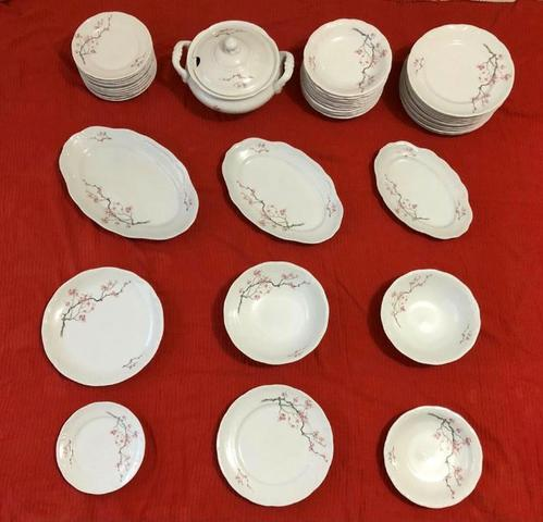 Aparelho de jantar e café de porcelana schmidt para 12