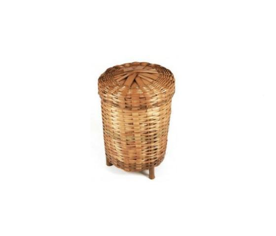 Balaio de bambu médio para roupas suja