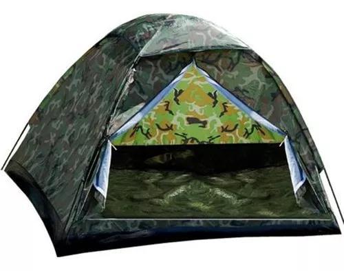 Barraca camping camuflada militar 3 lugares -