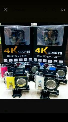Câmera action go pro sports 4k wi-fi prova dágua