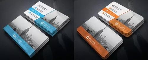 Criação de arte cartão de visita (frente/verso)