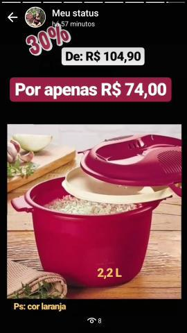 Linha microondas _ tupperware r$ 39,00