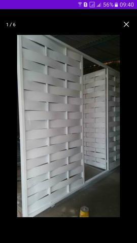 Promoção portão galvanizado de garagem 155 o metro