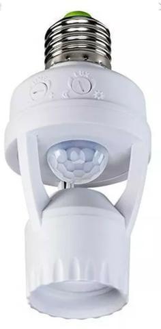 Soquete sensor de presença lâmpada bocal e27 movimento