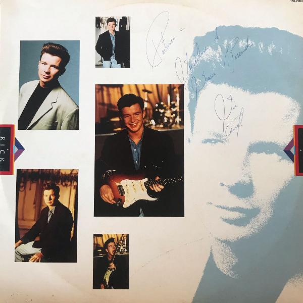 Disco de vinil, lp rick astley, hold me in your arms