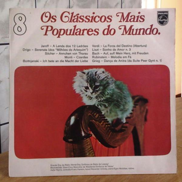 Lp classicos mais populares mundo vol 8 . 1974