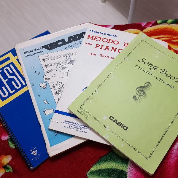 Métodos (partituras) para estudo de piano
