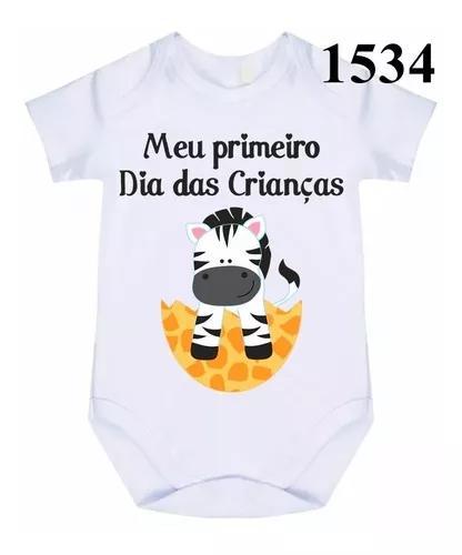 Body bebê personalizado meu primeiro dia das crianças