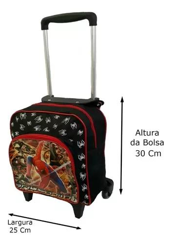 Bolsa mochila criança escolar rodinhas tamanho pequena