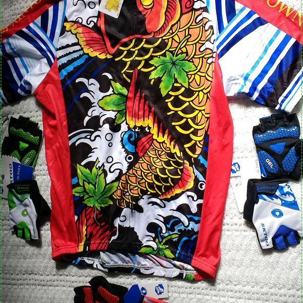 Camisa camiseta ciclismo italiana bike ciclista + 1 squeze