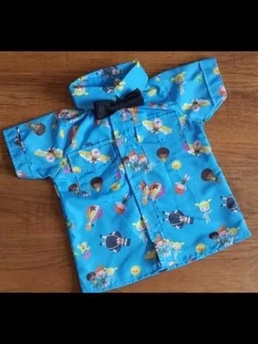 Camisa mundo bita com gravata infantil menino