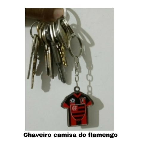Chaveiro acrílico time do flamengo futebol decoração
