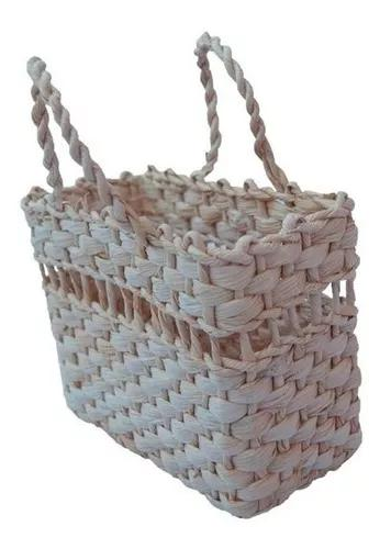 Kit com 12 bolsas de palha praia infantil 18x09x13 passa fit