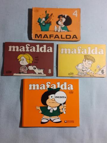 Lote 4 livros mafalda em espanhol
