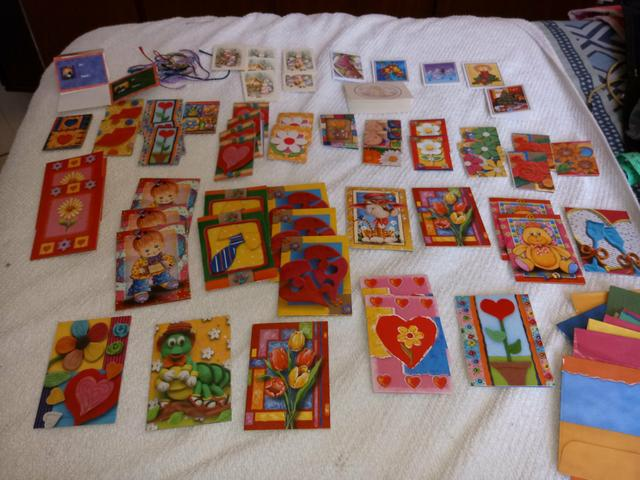 Lote mini cartoes comemorativos antigos