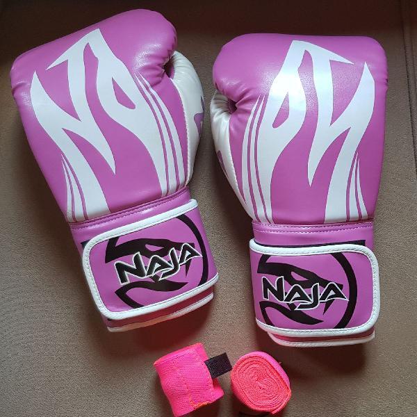 Luvas de boxe 12 oz - cor rosa