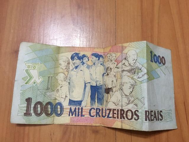 Nota / Cédula de 1000 Cruzeiros Reais de 1993 Flor de