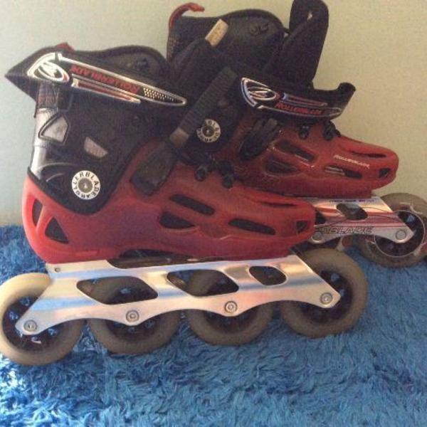 Patins roller rollerblade rb 10, extremaemente novo!