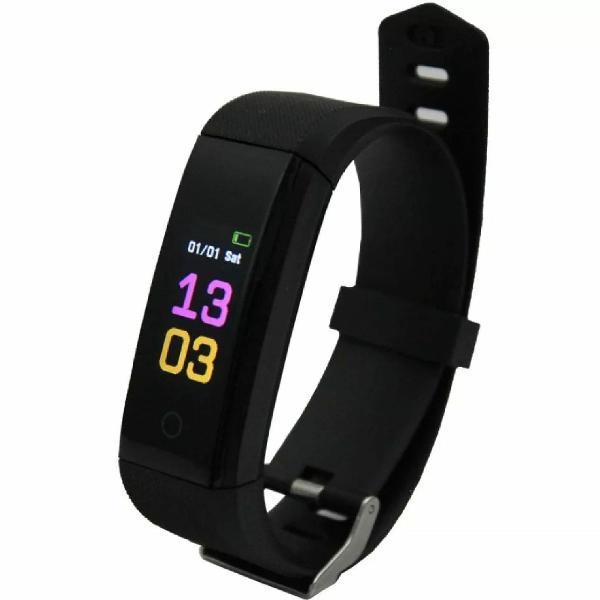 Pulseira inteligente fitness c/ monitor cardíaco smartband