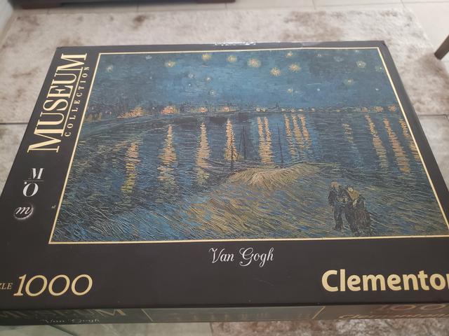 Quebra cabeça puzzle clementoni 1.000 peças van gogh