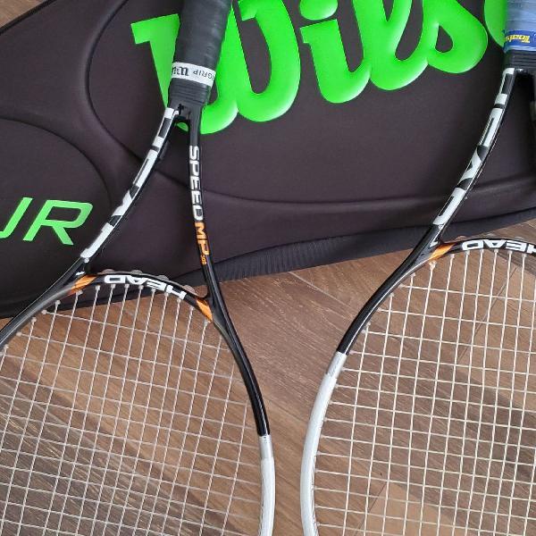 Raqueteira e raquetes de tênis