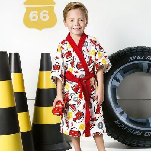 Roupão infantil felpudo disney carros (4 a 6 anos) tam p