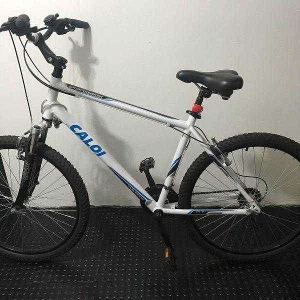 Bicicleta caloi sport comfort aro 26 21 marchas - branco