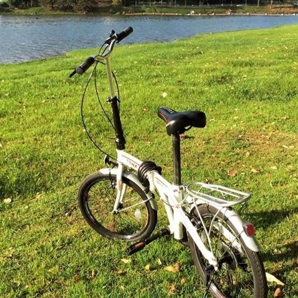 bicicleta dobrável trinx shimano