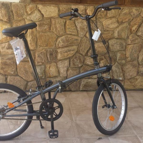 Bike nova dobrável aro 20 btwin