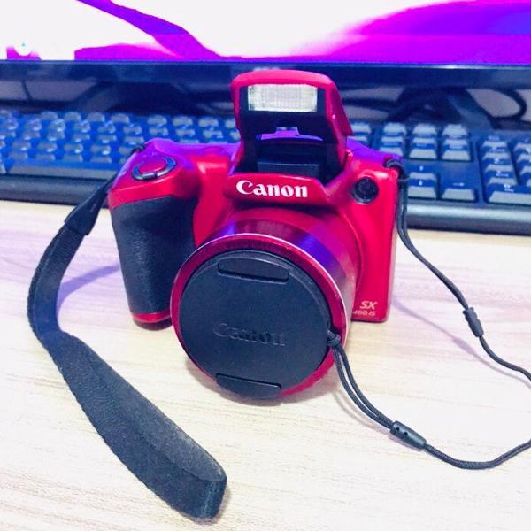 Camera semi profissional canon sx400 is