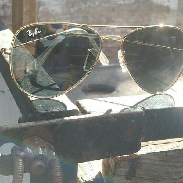 Culos de sol rayban aviador 3026 lentes cristal