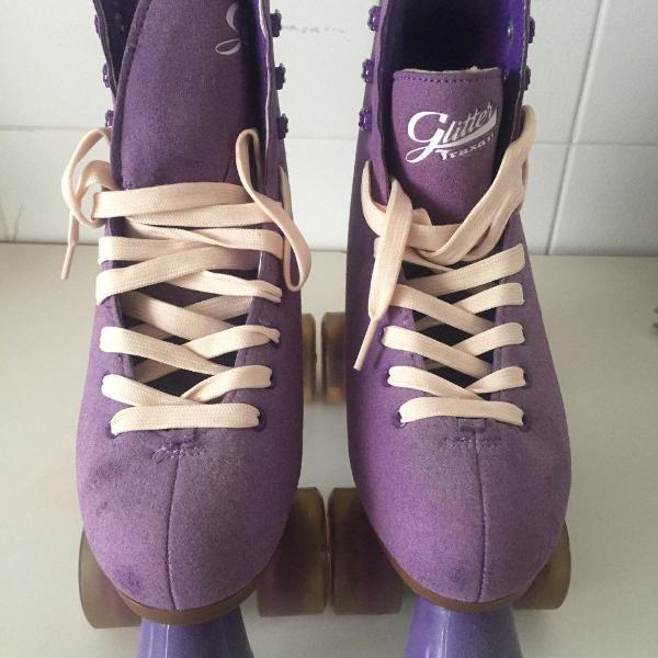 Kit completo patins feminino
